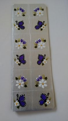 Tulip Nails, Butterfly Nail, One Stroke Painting, Pedicure, Nail Designs, Stickers, Bling Nails, Toenails Painted, Art Nails