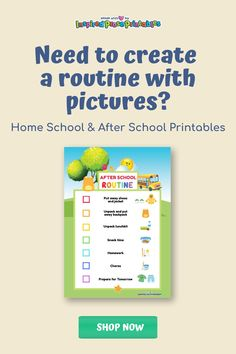 This fun, visual schedule can be used as a support tool when working with autistic children at school or at home. Visual schedules help to create a connection between pictures and words, gives structure to the day and lets kids check in to make sure they are on track. #visualscheduleautism #visualschedule #autisticclassroom #workingwithautisticchildren #inspiredproseprintables Toddler Routine Chart, Daily Routine Chart, Toddler Schedule, Chore Chart Template, Printable Chore Chart, Printables, Visual Schedule Autism, Visual Schedules, Family Chore Charts