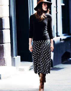 Swishy Jersey Skirt. So so stylish!  #fromlondonwithlove #boden
