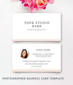 Business Card Template - Photography Business Cards - By Stephanie Design