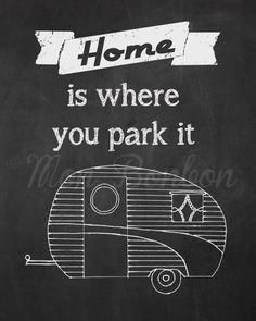 Chalkboard Vintage Trailer Art - 8x10 - DIY -You Print Art -Print at Home - INSTANT DOWNLOAD on Etsy, $4.95