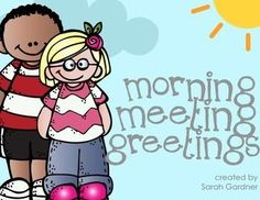 A collection of Morning Meeting greeting cards. Morning Meeting is part of the Responsive Classroom system, but can be used in any classroom to build community and communication skills. Instructions for assembly included inside the download If you find any errors, please contact me before leaving feedback!