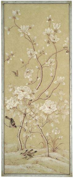 Bradburn Gallery: Right Beige Bird Panel