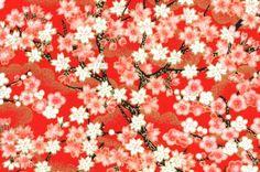 beautiful red and white washi papaer