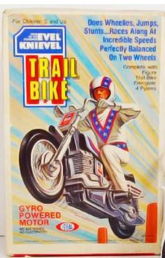 Ideal Evel Knievel Trail Bike. Antique Toys, Vintage Toys, Evel Knievel Toys, Flipper, 70s Toys, Classic Monsters, Classic Toys, Sport Bikes, Custom Bikes