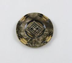 Sale. Vintage Carved Celluloid Wafer Button