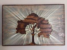 Sunlit Tree, String art, 3ft x 2ft : Art