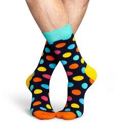 """Big Dot"" Socks (Blue, Green, Orange, Pink, Turquoise, Yellow) [BD01-068] by HAPPY SOCKS   SOURCE: http://www.happysocks.com/de/big-dot-sock-2703.html"