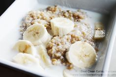 Clean Eating Recipe – Maple Banana Steal Cut Oats | Best Clean Eating Recipes | Clean Eating Diet Plan and Recipes