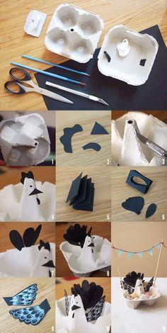 Les Moustachoux: Poulette de Pâques DIY: