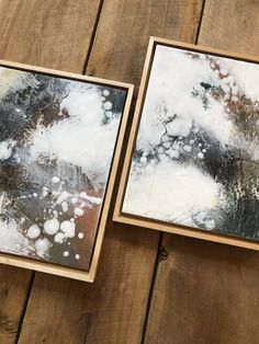 Original encaustic paintings by Tamara Lepianka. Encaustic medium and mixed media on wood panel. This is a matched pair sold as a set. Each painting is: 9 x 12 x .75 in | 22.8 x 30.4 x 1.9 cm The paintings are mounted in solid maple Ampersand float frames and ready to hang. $388.00 Dantes Inferno, Encaustic Painting, Good Cheer, Floating Frame, Wood Paneling, Mixed Media, Frames, Paintings, The Originals