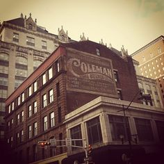 This faded sign is painted on the side of our building in downtown Newark. Does anyone know anything about Coleman National Business College? Anybody ever take classes here, like in the 50s or 60s?