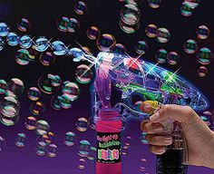 Original Gift Company LED Bubble Blowing Gun Not only does this fantastic bubble blower create a continuous stream of magical bubbles, it also uses LED technology – so your bubbles emerge in a dazzling rainbow of colours! The effect is amazing i http://www.MightGet.com/february-2017-2/original-gift-company-led-bubble-blowing-gun.asp