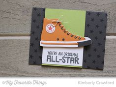 Be Original, Star Background, All-Star High Top Die-namics - Kimberly Crawford #mftstamps