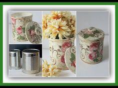 YouTube Handmade Crafts, Diy And Crafts, Rag Rug Diy, Vintage Jars, Diy Art, Stencils, Projects To Try, Crafty, Tableware