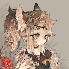 echo by satrn on DeviantArt Fantasy Character Design, Character Design Inspiration, Character Art, Cute Girl Drawing, Furry Drawing, Cute Art Styles, Cartoon Art Styles, Animal Drawings, Cute Drawings