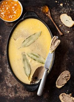 the best ever chicken liver pate — I love to serve chicken liver pate with a crispy melba toast and a dollop of something sweet. Its silken smooth so it needs the crunch. The Marmalade offers a bitter-sweet flavour which is rather d… : drizzleanddip Pate Recipes, Cooking Recipes, Dip Recipes, Kitchen Gourmet, Chicken Liver Recipes, Recipe Chicken, Easy Chicken Liver Pate Recipe, Chicken Liver Mousse, Fingers Food