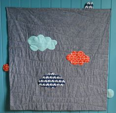 sit & play among the clouds baby quilt