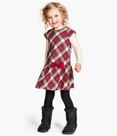 Ruffled drop waist dress, cute with chunky boots