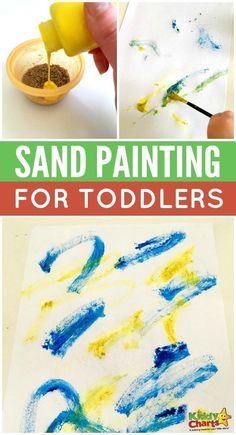 Learn to sand paint with your toddler with our brilliant guide!Fun sand painting activity for wie QualleQu wie DIY Coastal Beach Crafts For Kids To Make For Summer Kids Crafts, Sand Crafts, Toddler Crafts, Toddler Snacks, Creative Crafts, Preschool Crafts, Desert Crafts, Family Crafts, Art Activities For Toddlers