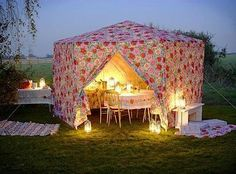 Floral Tent!  How fun!