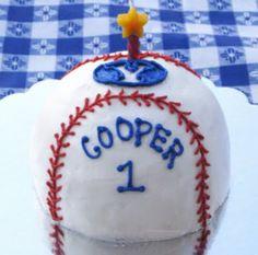 1st Birthday Baseball Smash Cake
