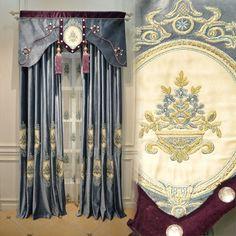 雅熙莱帝 品牌大气法式新古典客厅卧室高档仿绒布窗帘定制 芙莎德