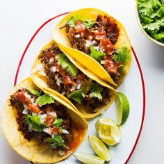 Braised Beef Short Rib Taco Recipe from Tacolicious | Tasting Table