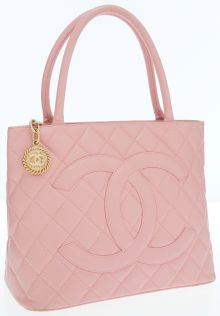 Chanel Pink Caviar Leather Medallion Tote Bag with Gold Hardware ᘡղbᘠ