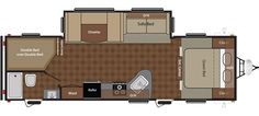 Floorplan image of Keystone Summerland model 2820BHGS.