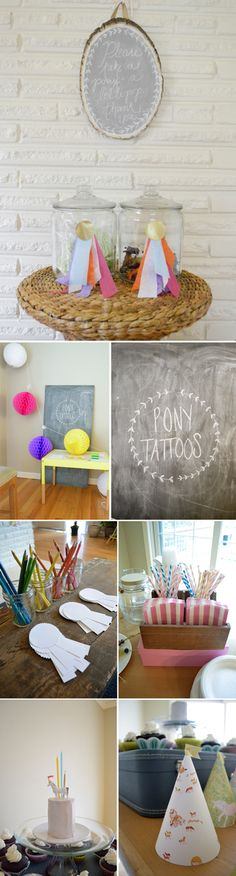 {pony party} *love the simplicity of some of these ideas. too cute.