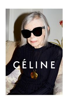 Joan Didion in Céline's spring campaign. [Courtesy Photo]