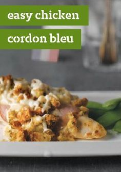 Easy Chicken Cordon Bleu – Cordon bleu means blue ribbon: exactly what this classic chicken dish deserves, even in its easier-to-prepare version. Easy Chicken Cordon Bleu, Classic Chicken Recipe, Cordon Bleu Recipe, Kraft Recipes, Kraft Foods, Delicious Dinner Recipes, Yummy Food, Quick Easy Meals, Quick Recipes