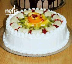 Meyveli Yaş Pasta Easy Cake Recipes, Appetizers, Birthday Cake, Pie, Yummy Food, Desserts, Allah, Autumn, Cakes
