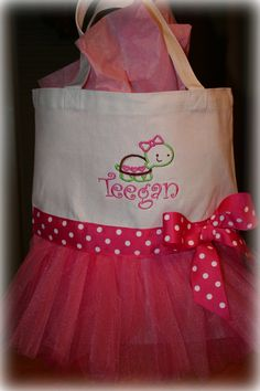 Boutique Custom Made Personalized Tote Bag for by SandDStitches, $27.00