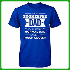Zookeeper Dad Except Much Cooler Fathers Day Gift For Dad - Unisex Tshirt - Holiday and seasonal shirts (*Amazon Partner-Link)