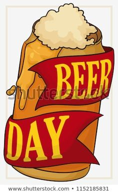 Premium, limited edition golden can with ribbon and delicious froth coming out it to celebrate Beer Day. Beer Day, Royalty Free Stock Photos, Ribbon, Canning, Pictures, Image, Tape, Photos, Band