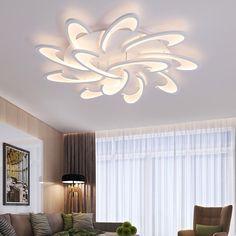 Moderne Acryl Ontwerp Plafond Verlichting Slaapkamer Woonkamer 90 ~ 260 V Wit Plafondlamp LED Home Verlichting Verlichtingsarmaturen plafonnier