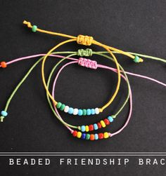 #diy beaded friendship bracelet
