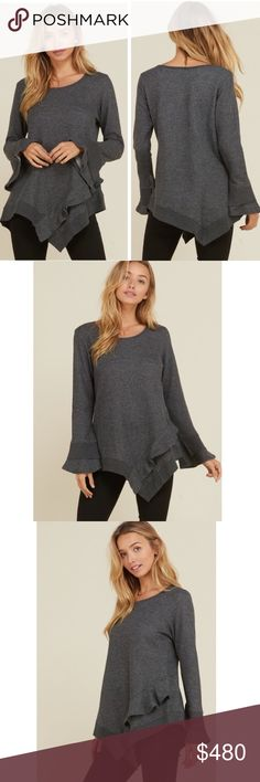 8e40ab3ea80 COMING 9 4 🆕 Black French Terry Knit Top Gorgeous black French Terry solid  knit