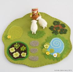 flet farm mat with figures and sheep
