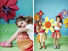origami flower backdrop