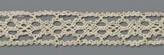 Detail of linen lace, 1550-1599, Italian, Rijksmuseum BK-NM-14367-122 4cm wide