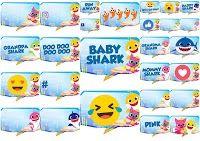 Baby Shark: Cuadros de Diálogo para Fiestas para Imprimir Gratis. Mulan 3, Pocahontas 2, Care Bears, Elmo, Winnie The Pooh, Frozen Bebe, Mickey Mouse, Hello Kitty, Anne Geddes
