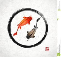 Vector Image Of An Carp Koi Royalty Free Stock Images - Image ...