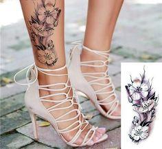 Temporary Tattoo Stickers - 23 Flower Styles