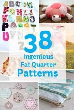38 Ingenious Fat quarter Patterns #sewing #fatquarters #patterns
