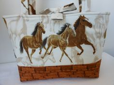 Handmade purse tote shoulder bag   Wild Horses by Joanna1966, $28.00