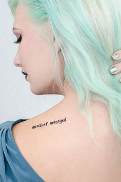 """Mischief Managed"" Temporary Tattoo 