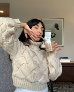 """Savannah Lee Lynch (Latimer)🦋 on Instagram: """"chai + cozy sweater + music = ¨̮ What are you listening too right now?? sweater from @revolve"""""""